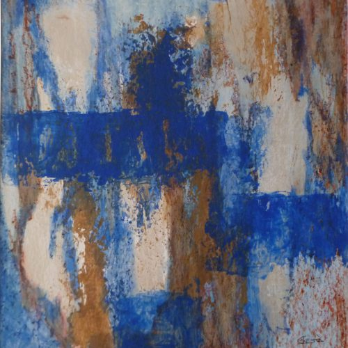 Paralelas azules en fondos plateados